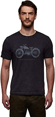Royal Enfield Navy Cotton T-Shirt for Men Size (2XL) 46 CM (RLATSG000017)