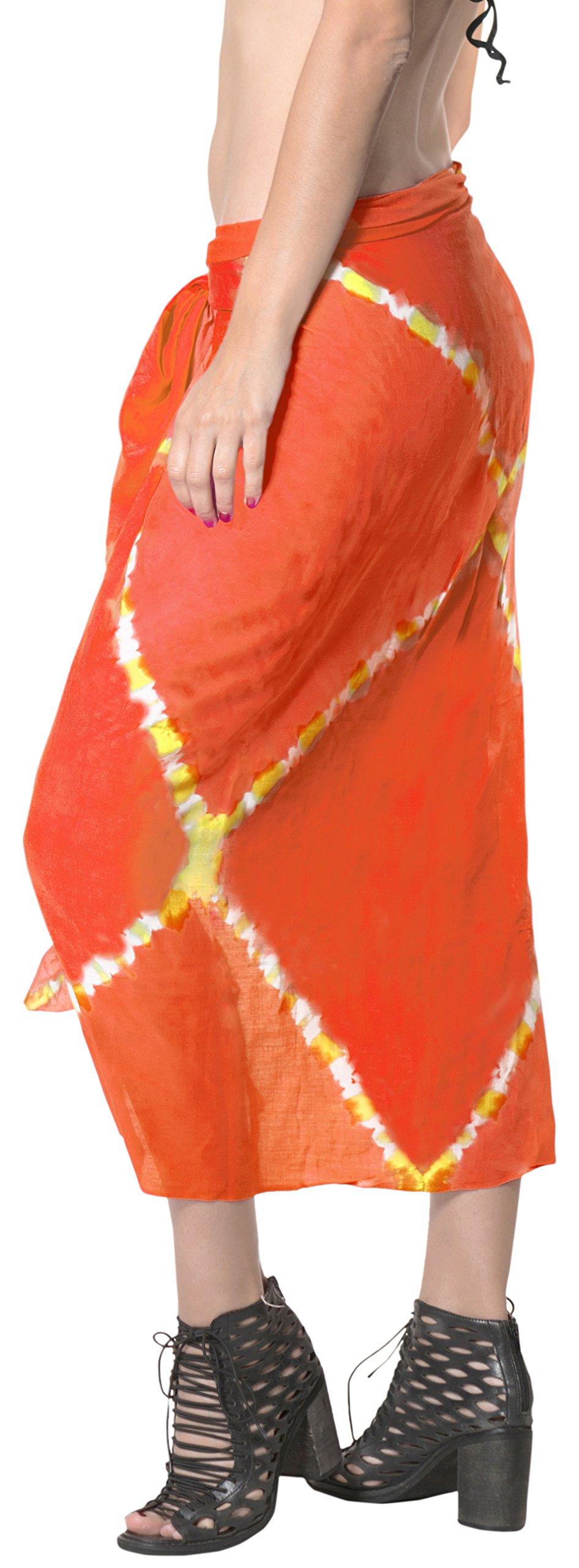 LA LEELA Rayon Costumi da Bagno Involucro Pareo Avvolgere Lungo Sarong Tie Dye 5 spesavip