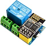 IZOKEE ESP8266 ESP-01S mit Relais Adapter, WLAN/WiFi Wireless Transceiver Modul & Relais Modul für Arduino UNO R3 Mega2560 Nano Raspberry Pi