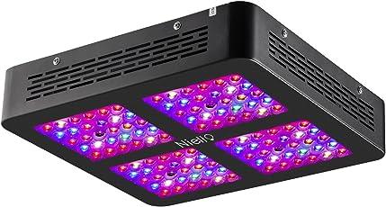 Niello 600W LED Pflanzenlampe Dual Optical Lense Series LED grow light Vollspektrum mit 2 Schalter für Zimmerpflanzen Gemüse und Blumen (120Leds / 5W, 12-Bands)