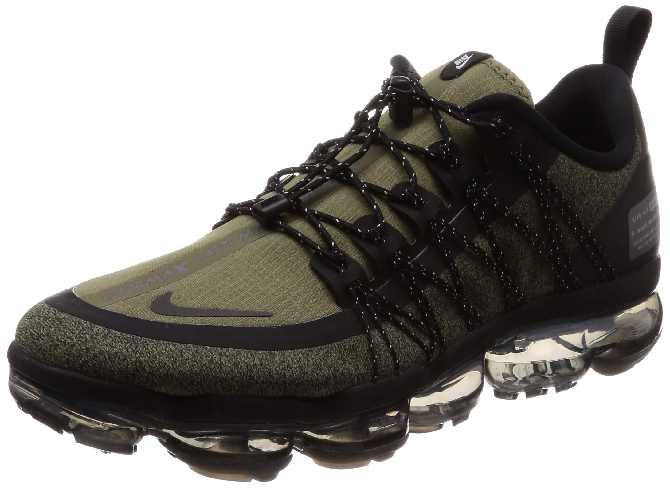 71WK0H3juXL - Nike Men's Air Vapormax Run Utility, Medium Olive/Reflect Silver