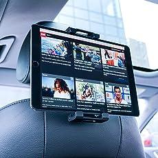 Tablet Halterung Auto, Lamicall Universal Tablet Halterung : KFZ-Kopfstützen Halterung für iPad Air Mini 2 3 4, New iPad 2017 Pro 9.7, 10.5, Tab, E-Reader, Smartphone und Tablet mit 4.7~13 zoll - Schwarz
