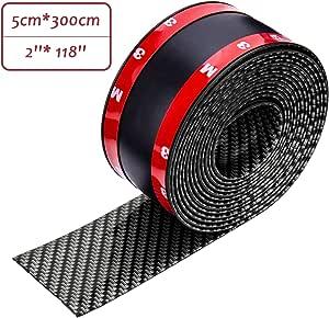 Cicmod Auto Einstiegsleisten Aufkleber Universal Karbonfaser Pedal Kfz Stoßstange Spoiler Kantenschutz Schutzfolie Carbon Aufkleber 3 Meter Auto