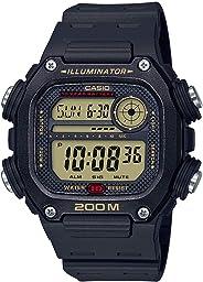 Casio 10 Year Battery Quartz Watch with Resin Strap, Black, 27.2 (Model: DW-291H-9AVCF)