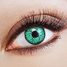 aricona Farblinsen Horror Halloween grüne Kontaktlinsen mit Adern für dein Hulk Kostüm gruselige Jahreslinsen für Hexenkostüm