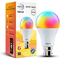 Wipro 12.5W B22 Wi-Fi Smart LED Bulb with Music Sync for Amazon Alexa & Google Assistant (12.5W, Multicolor)