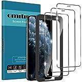 omitium 3 Pack Cristal Templado para iPhone 11 Pro/iPhone XS/iPhone X, Protector Pantalla iPhone XS [Marco Instalación Fácil]