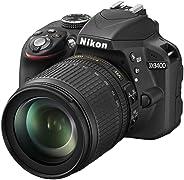 Nikon D3400 con Lente Nikkor AF-S 18/105VR, Fotocamera Reflex Digitale, 24,7 Megapixel, LCD 3