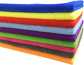 Microfiber Car Cleaning, Detailing & Polishing Cloth 320 GSM Pack of 4 (Assorted Mix Colours, 30 X 30 cm)