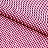 Hans-Textil-Shop Stoff Meterware, Vichy Karo 2x2 mm, Pink