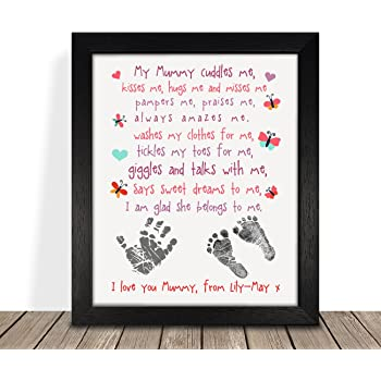 Personalised Presents Gifts For Mum Mummy Mother Grandma From Son Daughter Kids Birthday Mothers Day Christmas Xmas My Cuddles Me Poem Quotes Framed