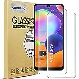 AOKUMA Samsung Galaxy A31 gehard glas, beschermfolie, premium kwaliteit beschermfolie, hoesje vriendelijk, comfortabel ronde