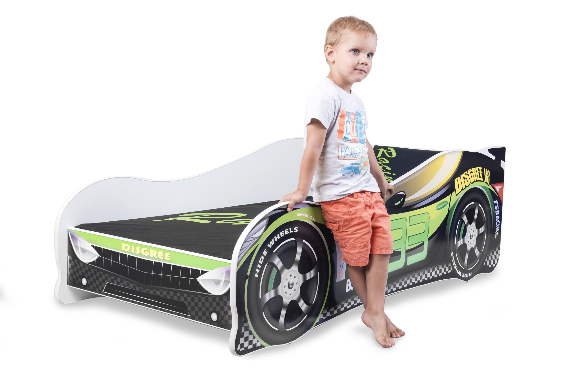 Sale +++ The Best Quality Baby Kids Bed Toddler Car Junior Bed with Mattress 140 x 70 cm 160 x 80 cm 180 x 80 cm (140x70cm Untill 5 Jears, Green) Nobiko Kids Bed + Foam Mattress in 3 Sizes: 140 x 70 cm untill 5 jears 160 x 80 cm untill 8 jears 180 x 80 cm untill 12 jears Greengard Gold - Product certified for law chemical emissions Ecologo - Product certified for reduced environmental impact 5