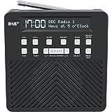 AZATOM Sonance T1 DAB/DAB+ Digital FM Radio Alarm Clock - Speaker System - Dual Alarm - Clock Radio - Rechargable Battery - USB Mobile Charging (Black)