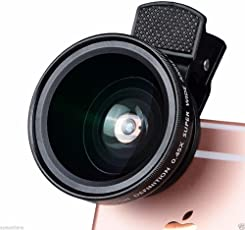 RFV1 37mm 0.45X 49UV Super Wide Angle Lens, Macrolens for All Mobiles, Camera and Camcorders