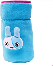 GURU KRIPA Baby Products ® Presents Philips Avent 260Ml to 330ML Bottle Plush Stretchable Baby Feeding Bottle Cover with Handle (Sky Blue)