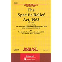 The Specific Relief Act, 1963 - Bare Act with Short Notes
