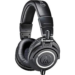 Audio Technica ATH M50x Over Ear Professional Studio Monitor Headphones  Black