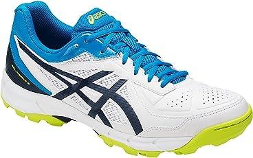 ASICS Men's Gel-Peake 5 White/Insignia Blue/Hawaiian Surf Cricket Shoes (UK 7 US 8)