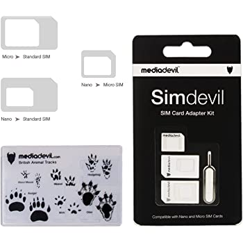 Kit d'adaptateur de carte SIM 3-en-1 Simdevil de MediaDevil (Nano / Micro / Standard)