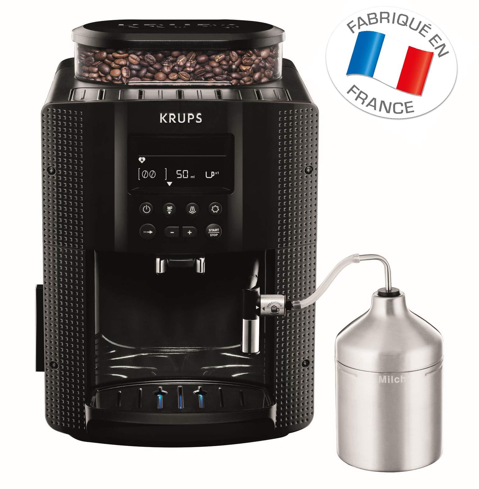 Krups EA8160 Kaffeevollautomat Cappuccinatore (1450 Watt, 1,8 Liter) schwarz