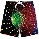 NEWISTAR - Bañador para jóvenes con impresión 3D, secado rápido, con forro de malla, para verano, playa, pantalones cortos de