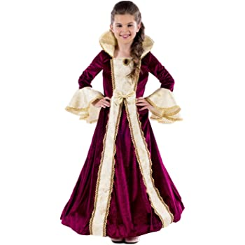 FANCY DRESS GIRLS DELUXE MEDIEVAL TUDOR PRINCESS OUTFIT 4 SIZES BOOK WEEK