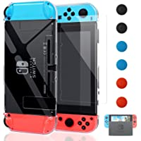 Dockable Protective Cover Case for Nintendo Switch with Screen Protector, YUANHOT Hard PC Clear Cover Shell for Nintendo…