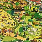 Baumwollstoff Tierpark Nordhorn Wimmelbild Kinderstoffe -
