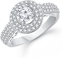V. K. Jewels Royal Solitaire Rhodium Plated Ring For Girls- Fr1550R [Vkfr1550R]