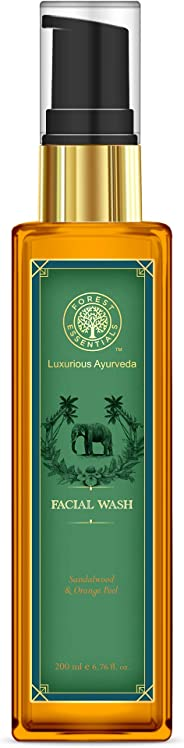 Forest Essentials Sandalwood and Orange Peel Facial Cleanser, 200 ml