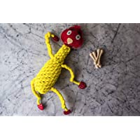 FORFURS Knotty Chicken Rope and Leather Dog Toy