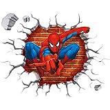 3D Spiderman kinderen slaapkamer woonkamer kinderkamer achtergrond kruis muurstickers verwijderbare decoratieve stickers woon