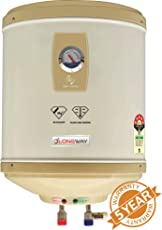 LONGWAY Superb GL 25LTR 5 Star Storage Water Geyser WT AVS Technology, Temperature Meter, ABS TOP Bottom, HD ISI Element & Capsule Type Glass Lined Tank 60 Month Warranty (Ivory)