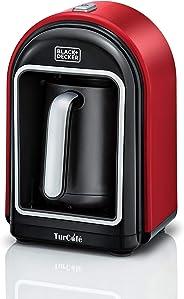 Black+Decker 735W OptiSense Turkish Coffee Maker, 330 ml, Red, TCM700