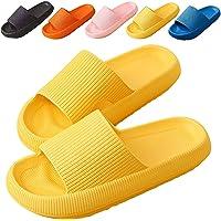 Laonajkd Sandalen Damen Sommer Elegant Flat Heel Slides Indoor-Haus Anti-Rutsch Badeschlappen schnell Trocknende…