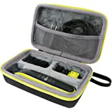 co2CREA Hart Reise Schutz Hülle Etui Tasche für Philips One Blade Rasierer QP2520 QP2530 Bartschneider (grün)