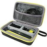 co2CREA Duro Viaggio Caso Copertina per Philips OneBlade QP2630/30, QP2530/30, QP2520/30(travel case) (Cerniera giallo)