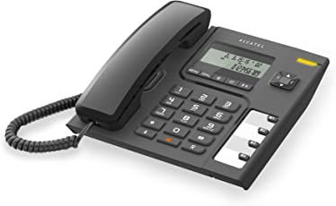 Alcatel T-56 Corded Landline Phone with Caller Id and Hands-free Function (Black)