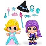 Pinypon - Princesa Y Bruja, Incluye 2 Figuras y Accesorios, para niños y niñas a Partir de 4 años (Famosa 700014080)