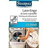 STARWAX Nettoyant Détartrant pour Lave-linge et Lave-vaisselle - 2 Sachets de 75g - Idéal pour Nettoyer et Détartrer les Lave