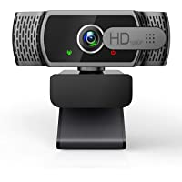 Webcam for PC with Microphone - 1080P FHD Webcam with Privacy Cover, Plug and Play USB Web Camera for Desktop & Laptop…