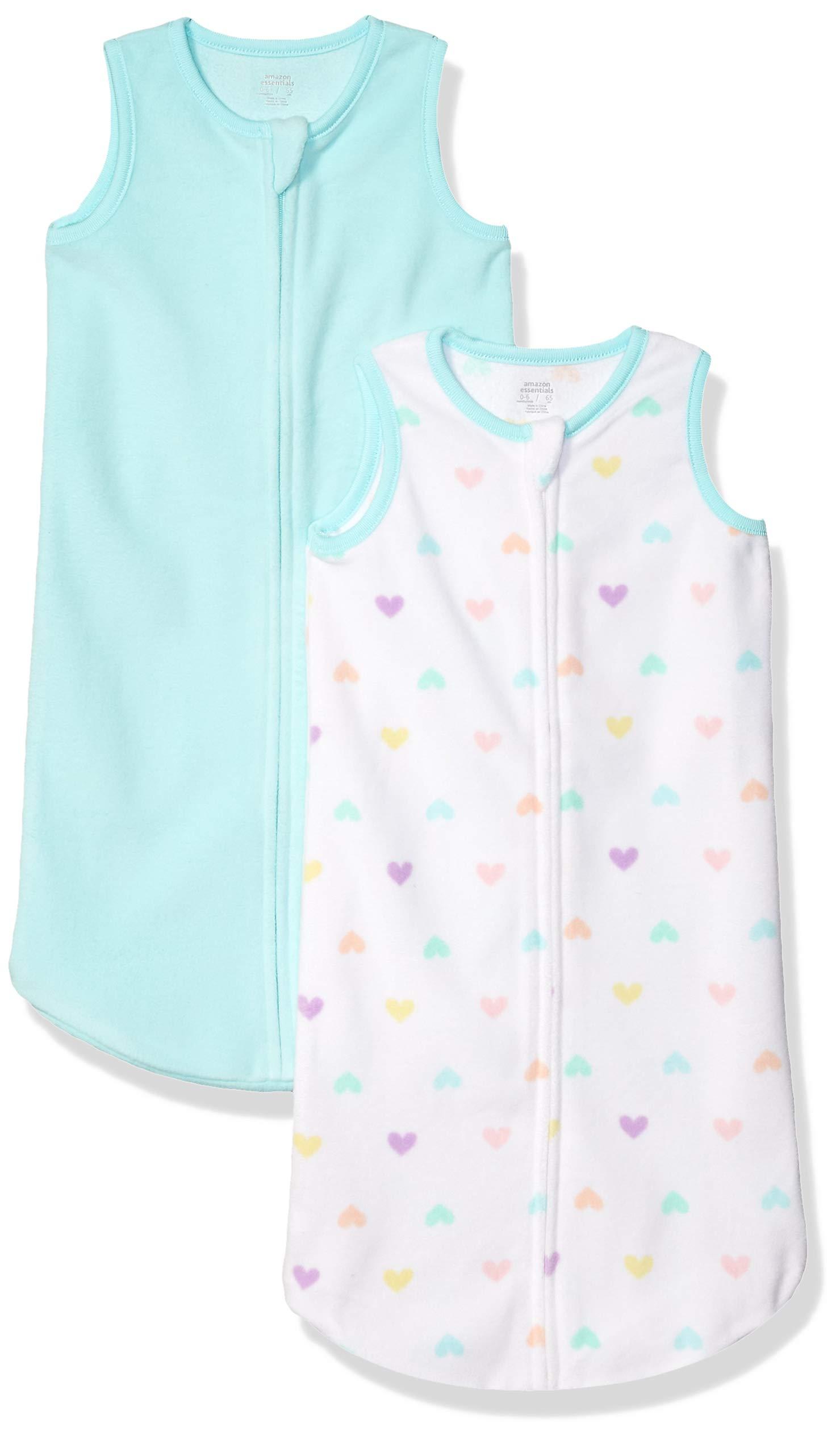 Amazon Essentials Saco de Dormir para Bebé de Microfibra, Paquete de 2 - Infant-and-Toddler-Sleepers Bebé-Niñas 1