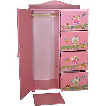 Armoire Penderie Tiroirs Fille Princesse Rose Chambre D enfant Meuble  Dressing 94 x 60 x 038607cadeb8