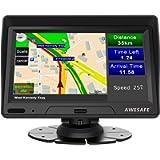 Navigatore Satellitare Auto Camion 2021 7 Pollici GPS Navigatore per Auto Autobus Taxi, Precaricato Mappa Europa, Avviso…