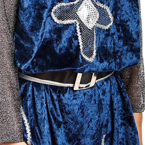 Kostümplanet® Ritter-Kostüm Kinder Jungen + Stiefel-Stulpen Faschingskostüm Größe 152 - 4