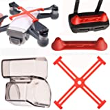 PENIVO Spark Zubehör Protector 3 Pack Set, Controller Sender Joystick + Kamera Gimbal Objektivdeckel + Propeller Clip für DJI Spark Drone Protector