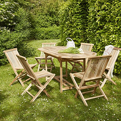 BOIS DESSUS BOIS DESSOUS Salon de jardin en bois de teck 6 à 8 places