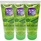 BoroPlus Aloe Vera Gel | 100% Organic for Skin & Hair| Rich in Vitamin E and Antiseptic Herbs | For Smooth, Nourished and Moi