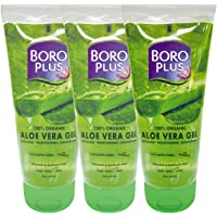 BoroPlus Aloe Vera Gel | 100% Organic for Skin & Hair| Rich in Vitamin E and Antiseptic Herbs | For Smooth, Nourished…